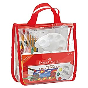 Faber-Castell Young Artist Learn to Paint Set – Washable Paint Set for Kids