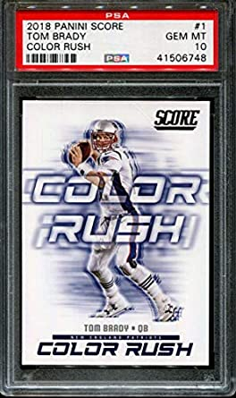 Image Unavailable. Image not available for. Color  2018 PANINI SCORE COLOR  RUSH  1 TOM BRADY ... f2458907d