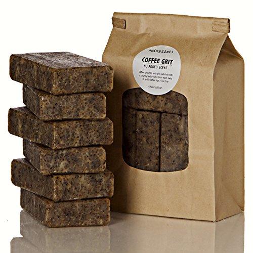 SIMPLICI Coffee Grit bar soap Value Bag 6 Bars