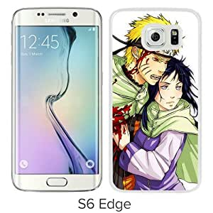 Popular And Unique Designed Cover Case For Samsung Galaxy S6 Edge With Boy Girl Wound Blood Background white Phone Case