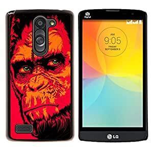 LECELL--Funda protectora / Cubierta / Piel For LG L Bello L Prime -- Red Monkey Gorila --