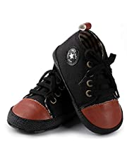 Baby Boys Girls Canvas Shoes Anti-Slip Prewalkers First Walking Shoes Walkers 0-18 Months