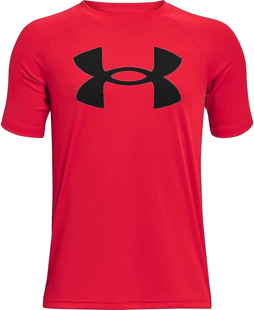 Under Armour Boys' Tech Big Logo Short-Sleeve T-Shirt: Clothing
