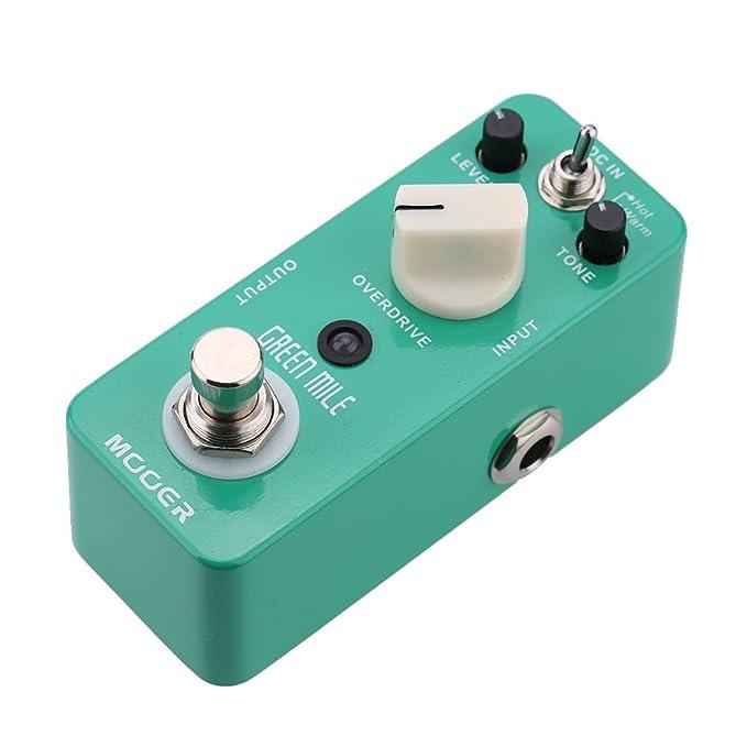 Muslady Mooer Milla Verde Micro Mini Overdrive Guitarra Eléctrica Efecto Pedal True Bypass: Amazon.es: Instrumentos musicales
