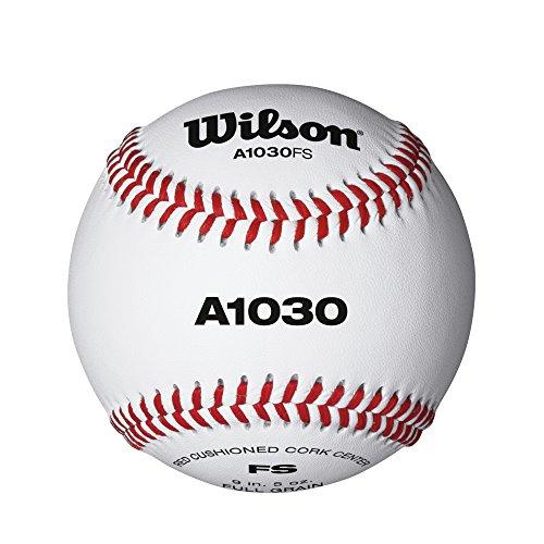 Wilson A1030 Flat Seem Baseball (1 Dozen) by Wilson