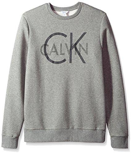 Calvin Klein Men s Long Sleeve Heat Transfer Logo Pullover Sweatshirt bf679d8afc