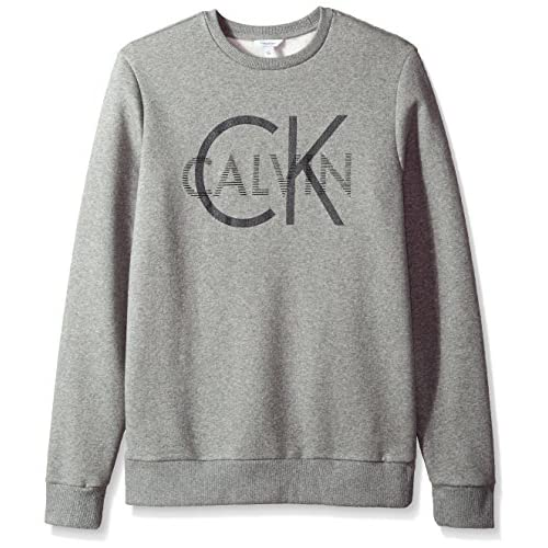 Calvin Klein Men's Long Sleeve Heat Transfer Logo Pullover Sweatshirt