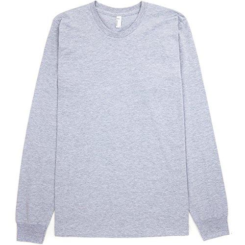 Cotton T American Mens Jersey Sleeve Grey Heather Fine Long shirt 100 Apparel gAAn7q8Xr