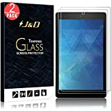 J&D 2-Pack New Fire HD 8 2018 Screen Protector, Fire HD 8 Kids Edition/New Fire HD 8 2017 Screen Protector, [Tempered Glass] HD Clear Ballistic Glass Screen Protector for Amazon Fire HD 8 2016/2017