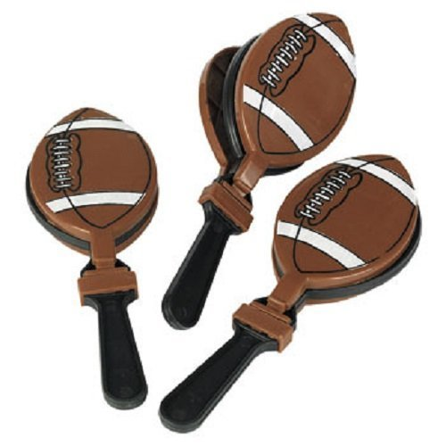 - Lot of 12 Football Clappers Party Favors Game Noisemaker Clacker by Fun Express