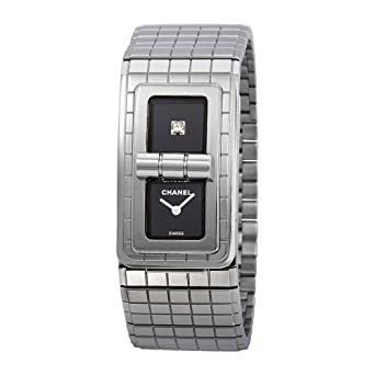 868385c176 Amazon.com: Chanel Code Coco Black Lacquered Dial Ladies Watch H5144 ...