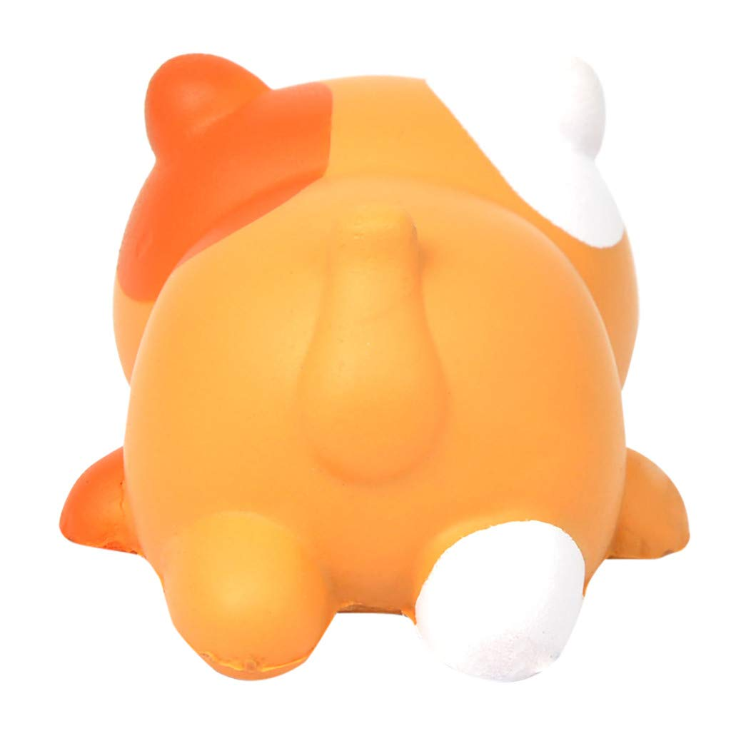 Lucoo Squishies Squeeze Toys Jumbo Squishies Cute Cat Shape Venting Toy Scented Slow Rising Stress Relief Squishy Toy for Adult Boys Animal Toy Orange