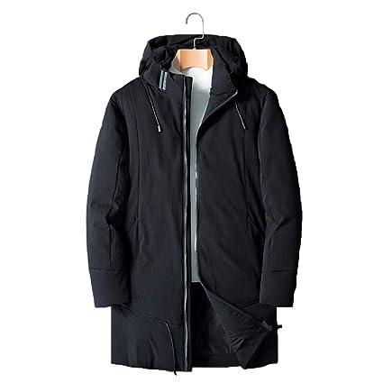 SBL Abrigo de Invierno Grueso para Hombre, Chaqueta Larga de Moda Juvenil, Chaqueta Abrigada
