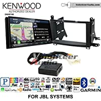 Volunteer Audio Kenwood DNX874S Double Din Radio Install Kit with GPS Navigation Apple CarPlay Android Auto Fits 2009-2015 Toyota Venza with Amplified System