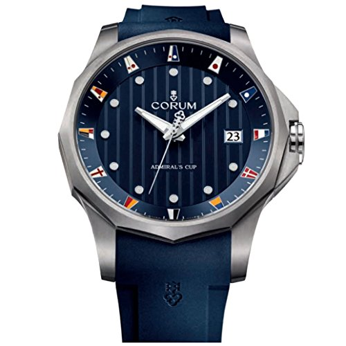 Corum Men's Admirals Cup Legend 47 47mm Rubber Band Titanium Case Automatic Watch 403.100.04/F373 AB10