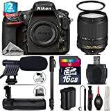 Holiday Saving Bundle for D810 DSLR Camera + 18-140mm VR Lens + Battery Grip + 2yr Extended Warranty + 16GB Class 10 + 72 Monopod + UV Filter + Cleaning Kit + Cleaning Brush - International Version