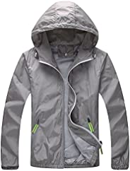 Tina Silvergray Night Safe Reflective Windbreaker Hooded Rain Jacket for Women
