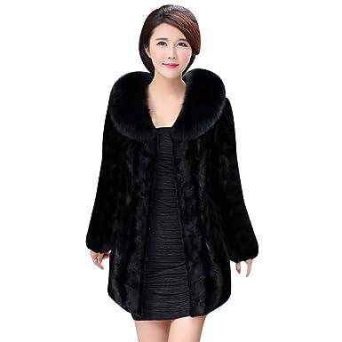 0247ca91ee4 ESAILQ Ladies Womens Hooded Warm Faux Fur Coat Jacket Winter Parka Outerwear  Hanger Lavender Faux Fur Coat Ladies Faux Fur Coat  Amazon.co.uk  Clothing