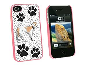 Graphics and More Borzoi of Excellence - Snap On Hard Protective Case for Apple iPhone 4 4S - Pink - Carrying Case - Non-Retail Packaging - Pink
