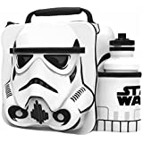 Starwars Kids Children 3D Lunch Box Bag With Sport Water Bottle (White, One Size)