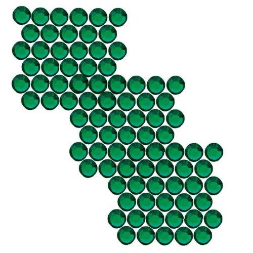 SWAROVSKI ELEMENTS Flatback Crystal Rhinestones #2028 SS9 Emerald (72) ()