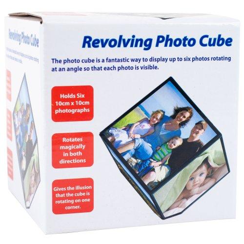 Revolving Photo Cube, Displays 6 Photos
