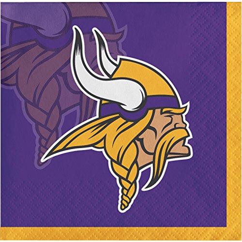 Minnesota Vikings Party Supplies (Minnesota Vikings Beverage Napkins, 48)