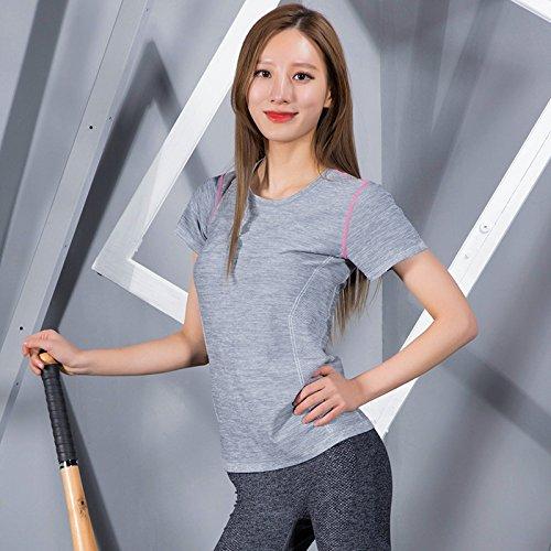 PU&PU T-shirt de sport grande taille à manches courtes col rond gymnase Running Exercice Fintess Shirt Top