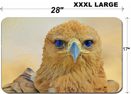 Tawny Eagle - Liili Large Table Mat Non-Slip Natural Rubber Desk Pads Tawny Eagle Wildlife Background from Africa Blue Eyes 28424217