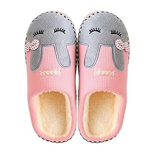 Pantofole Caldo Modello Donne Ragazze Scarpe Dimensione Carino Fumetto 35 Gosear Morbido Coperta Inverno Panda F 39 vRq58fY
