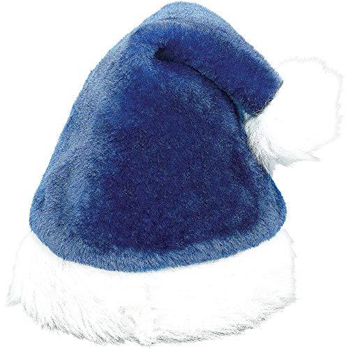Royal Blue Santa Hats (Santa Plush Fabric Hat | Christmas)