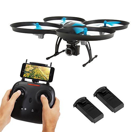 SereneLife WiFi FPV Drone with HD Camera and live Video. Headless Mode Quadcopter, Altitude Hold,...