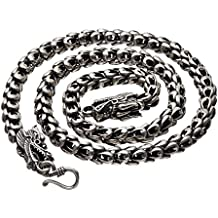 OS Sterling Silver Dragon Chain - Handmade Vintage 925 Necklace Heavy Jewelry 16'' 18'' 20'' 22'' 23.6'' 26'' or 30''