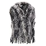 Wilsons Leather Womens Plus Size Black Snow Top Shade Fur Vest 3X Black