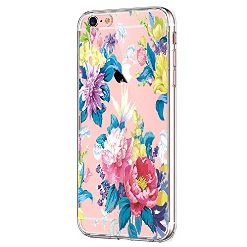 Giyer iPhone 6S 6 Case Clear TPU Transparent Bumper Case Creative Series Silicone Cover for Apple iPhone 6 6S (Flower) (Eclipse Bumper Case For Apple Iphone 5 5s)
