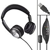 WordSlinger Deluxe Overhead USB Transcription Headset With Leatherette Cushions