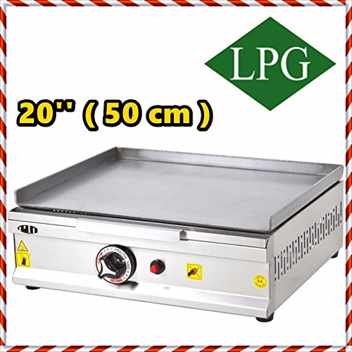 20 '' ( 50 cm ) PROPANE GAS Commercial Kitchen Equipment Countertop Flat Top Grill Restaurant Cooktop Manual Griddle Propan LPG by Remta Makina