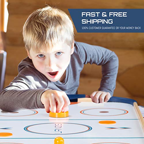 Lanos Air Hockey Table for Kids and Adults | 4 Foot Air Hockey Game Table with Electronic Scoreboard, Powerful Air Blower, 2 Pushers, and 2 Hockey Pucks | Ice Hockey Game Room Table