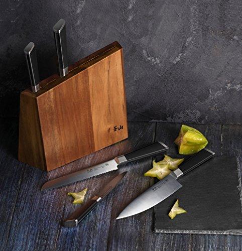 Cangshan Y2 Series Knife Set, 6-Piece German Steel Block, Silver