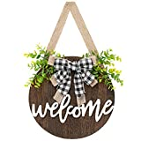 Dahey Rustic Welcome Sign with Artificial