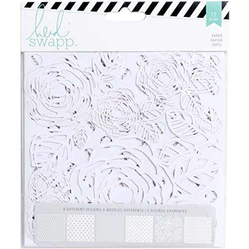 American Crafts 12 Piece Heidi Swap Mixed Media Lace Paper Pack, 6 x 6