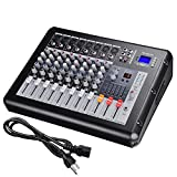 AW 8 Channel Pro Powered Mixer w/ USB Slot DJ Power Mixing 110V 16.5''x13.2''x5.3''