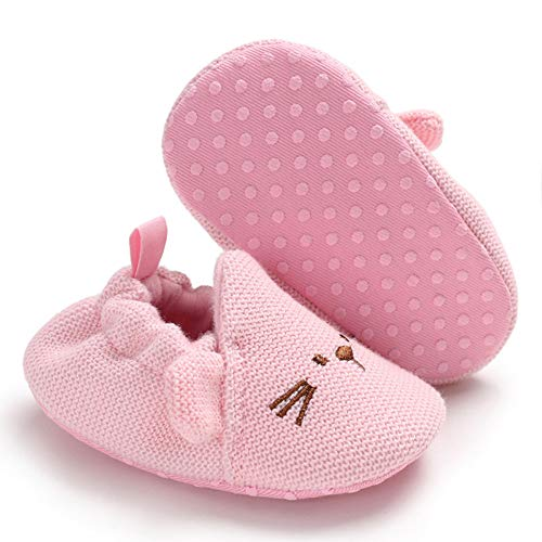 Sawimlgy US Baby Boys Girls Walking Slippers with Grip Cozy Booties Infant Kids House Moccasins Newborn Gift Socks ()