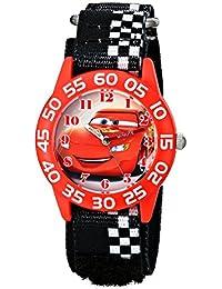 Kids' W001679 Cars Plastic Watch, Black Checkered Nylon Band