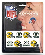 Rico NFL Green Bay Packers 8 Piece Temporary Tattoos