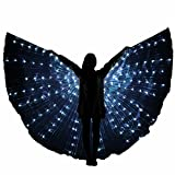 Besplore Women's Belly Dance Isis Wings,Costume Angle LED Isis Wings,White Light