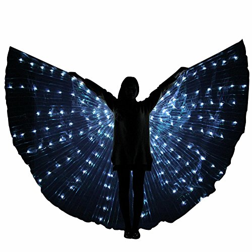 Besplore Women's Belly Dance Isis Wings,Costume Angle LED Isis Wings,White Light by Besplore