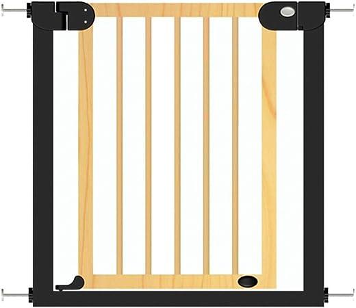 Barrera seguridad Puerta de madera para mascotas, barrera de seguridad para perros de bebé para la