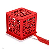 LCMJ WS 10 Packs Halloween Red Sweet Box Candy Treat Boxes for Wedding Party Festival Assembled 6.6cm