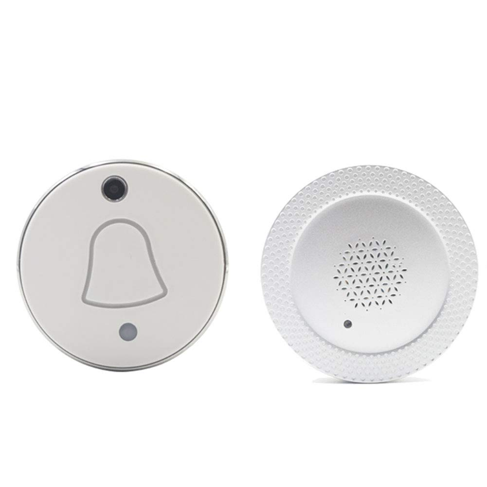 MLL Wireless Door Bell Kit, Wireless Distance in 50-100 Feet Range Camera 90° Wide Angle Monitoring Smart Door Bell Can Connection WiFi